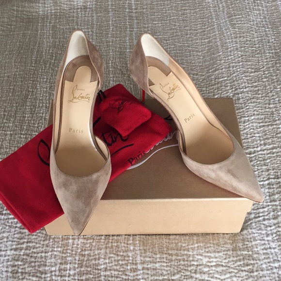 huge selection of 75dda 2b1c3 Christian Louboutin Iriza Half d'Orsay Pumps NWT